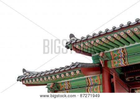 Gyeongbokgung Isolated On White Background