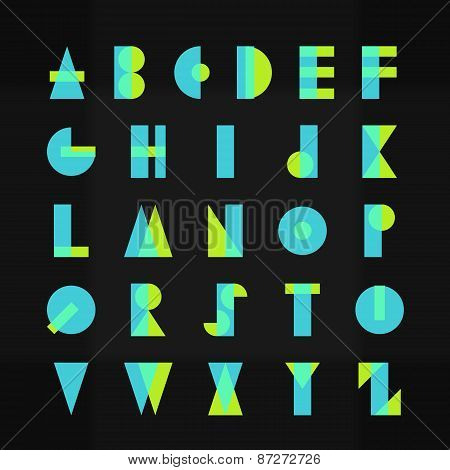 Funky Alphabet Typography Font