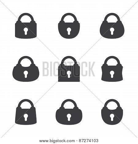 Vector Set Of Lock.