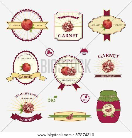 Garnet, Set Of Label Design