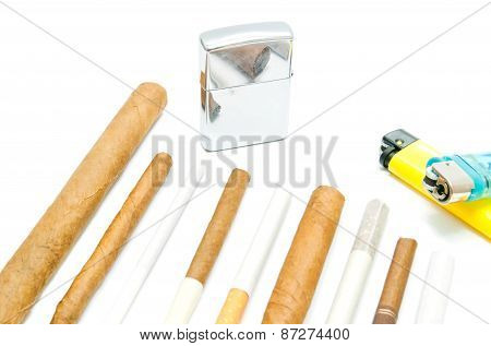 Many Cigars And Cigarettes