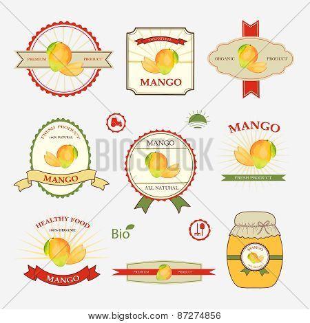 Mango, Set Of Label Design
