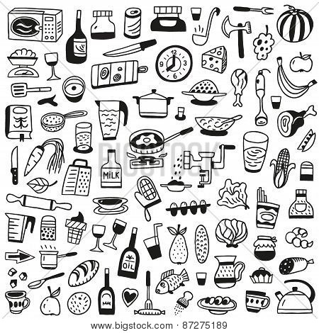 Cookery, food - doodles collection