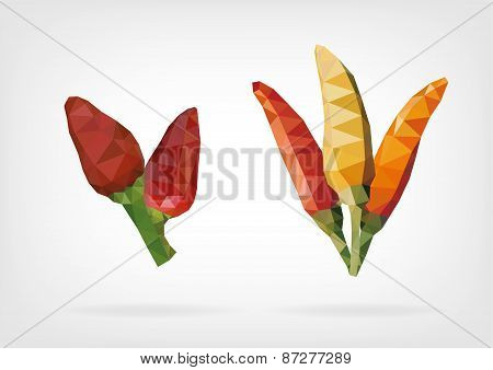 Low Poly Tabasco Peppers