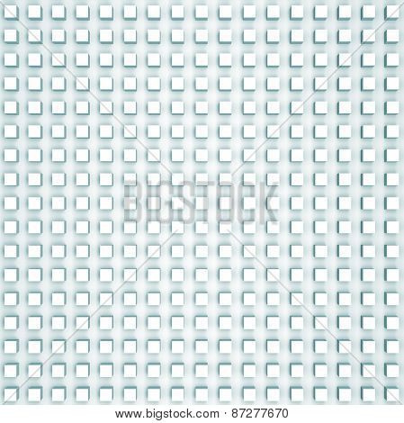 Abstract Digital Background With Light Blue Relief Cubes Pattern