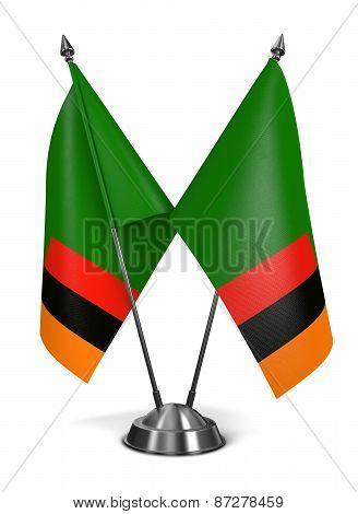 Zambia - Miniature Flags.