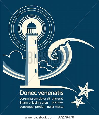 Lighthouse Graphic Poster For Text