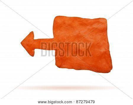 Orange clay banner