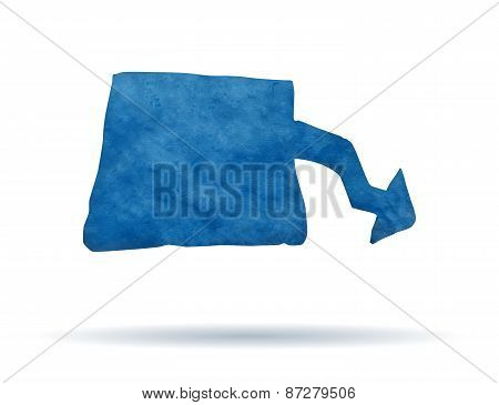 Blue clay banner