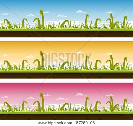 Grass And Lawn Landscape Set