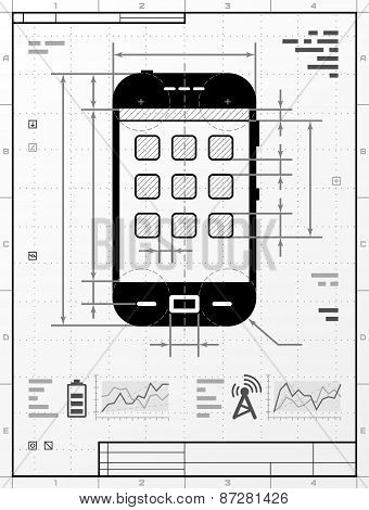 Smartphone As Technical Drawing