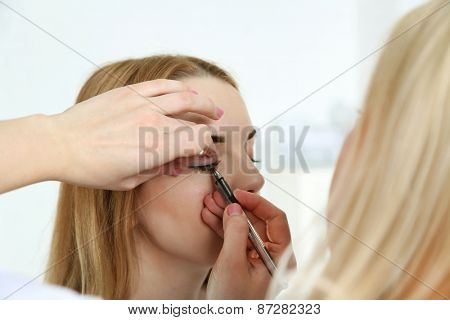 Permanent make-up (tattoo) at beauty salon