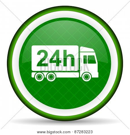 delivery green icon 24h shipping sign