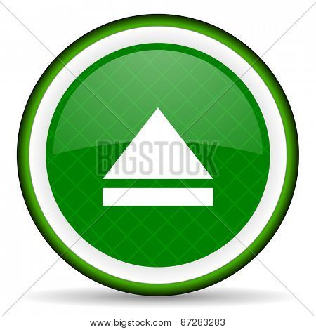 eject green icon open sign