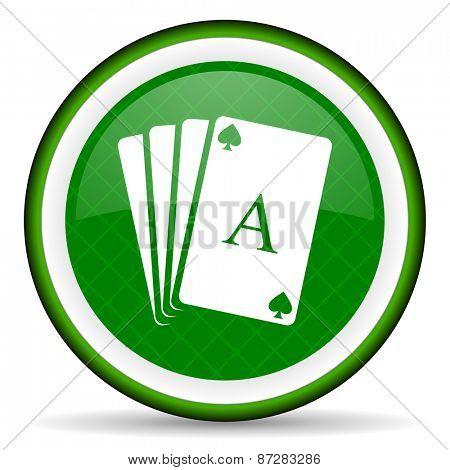 casino green icon hazard sign