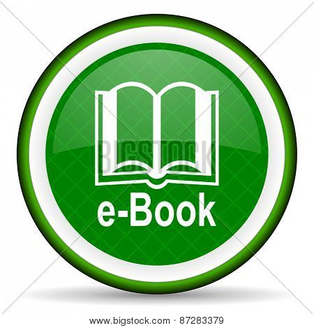 book green icon e-book sign