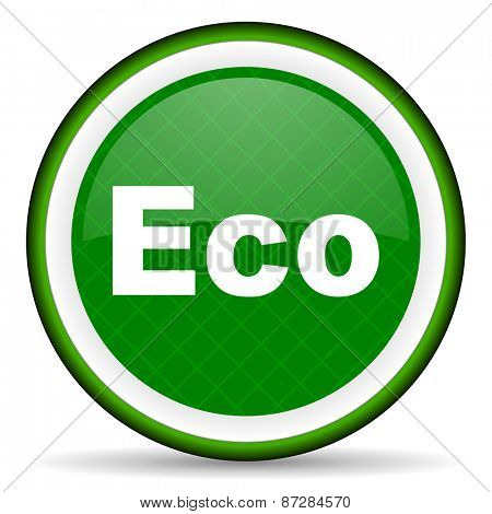 eco green icon ecological sign