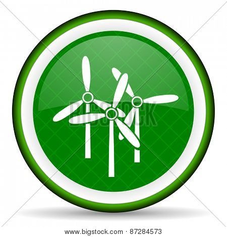 windmill green icon renewable energy sign