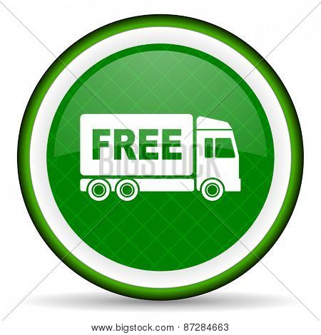 free delivery green icon transport sign