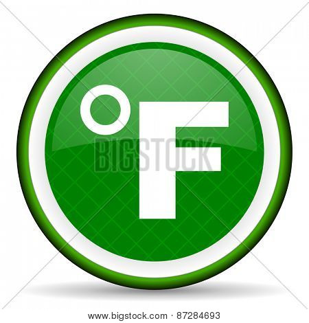 fahrenheit green icon temperature unit sign