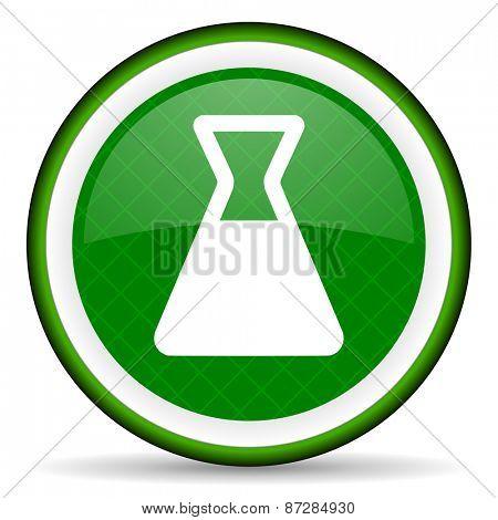 laboratory green icon