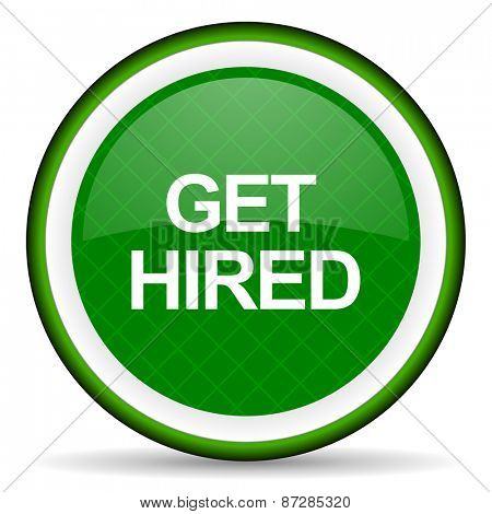 get hired green icon