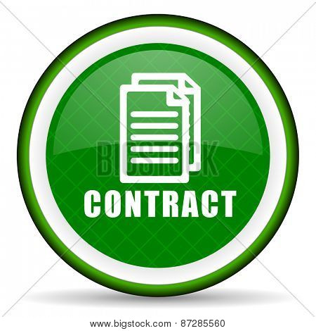 contract green icon