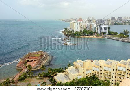 San Juan city skyline, Puerto Rico