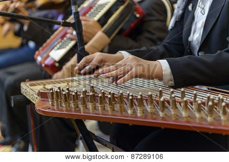 Arabian Qanon Musical Instrument Playing