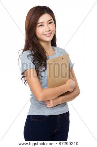 Chinese woman with file pad