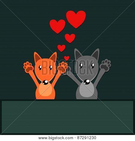 fox and wolf love