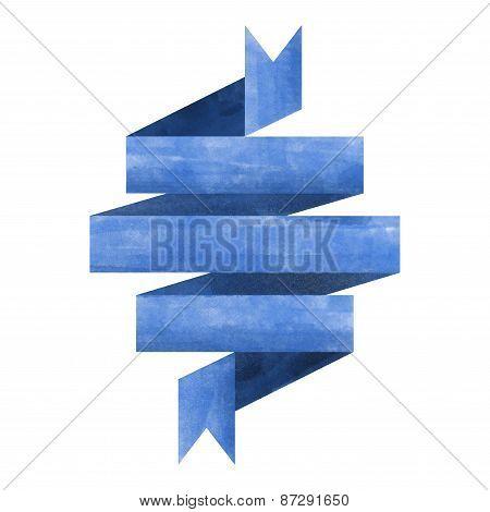 Blue Watercolor Ribbon