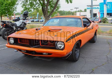 Plymouth Barracuda Classic Car On Display