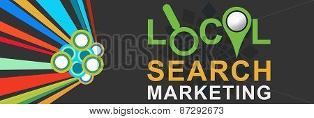 Local Search Marketing Colorful Dark
