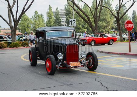 Hot Rod Classic Car On Display