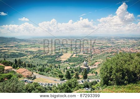 Tuscan landscape near the town of Cortona, Italy