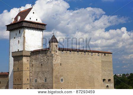 Estonia. Narva. Ancient fortress on border with Russia