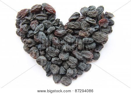 Raisins - Dried Fruits In The Form Of Heart