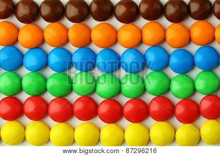 Colorful Candy On A White Background