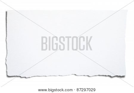 Torn Blank Paper, With Clipping Path.