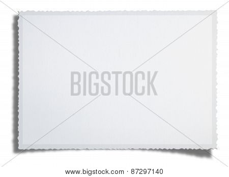 Textured Blank Photo (clipping Path)