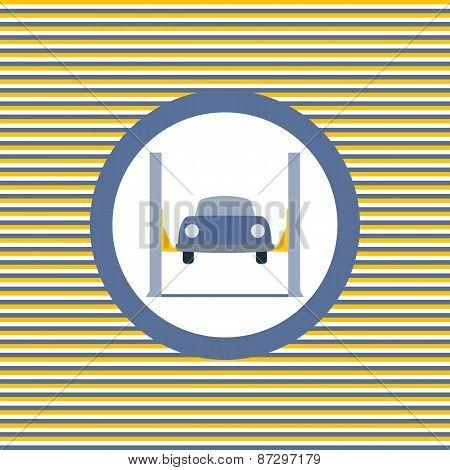 Car Lift Color Flat Icon