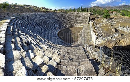 The Theater At Aphrodisias Was Highly Advanced For Its Time. The Theater Was Used Also For Gladiator