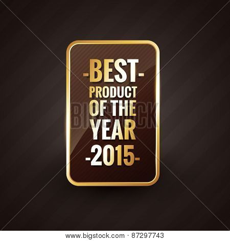 golden best product of the year 2015 design label badge