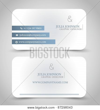 Grey and white business card set template