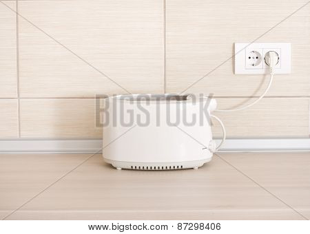 Toaster On Kitchen Countertop