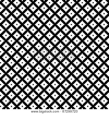 Tribal monochrome lace.