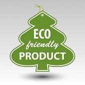 foto of eyeleteer  - green eco friendly producttree tag label with string eyelet - JPG