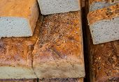 picture of polonia  - traditional polish bread with lot of sunflower seeds - JPG