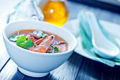 picture of gai  - tom yam soup in the white bowl - JPG